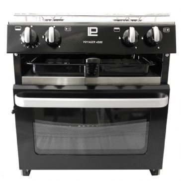 VOYAGER 4500 DELUXE Freestanding COOKER WITH IGNITION BLACK